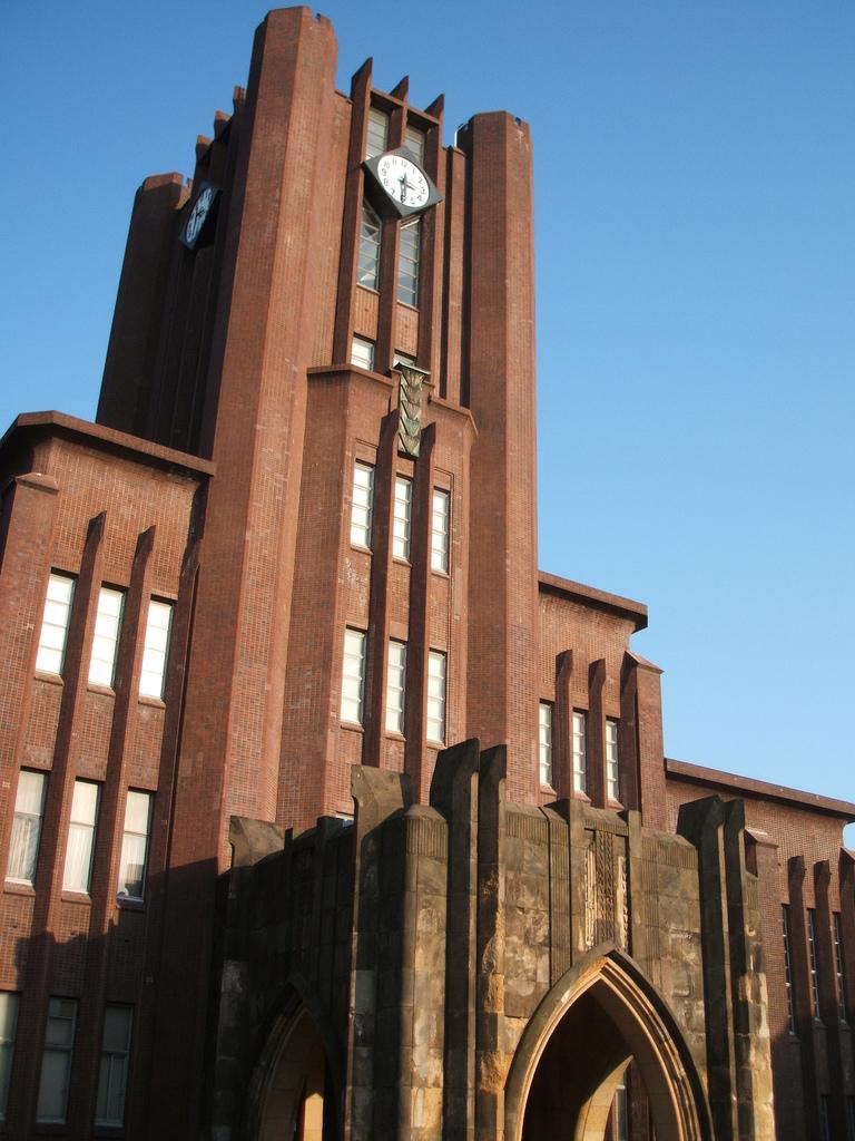 東京大学のキャンパスの中心にある安田講堂は戦前から存在する。