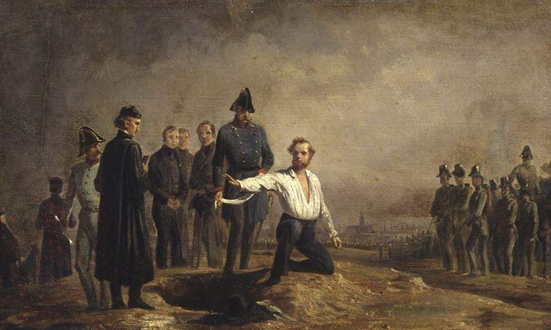 ロベルト・ブルムの処刑。